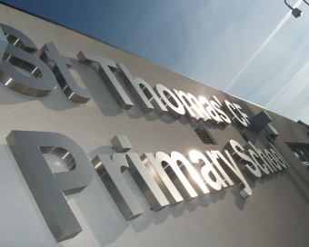 Image of signage using 3D Lettering