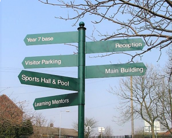 Image of finger post signage