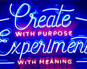 Image of neon light sign